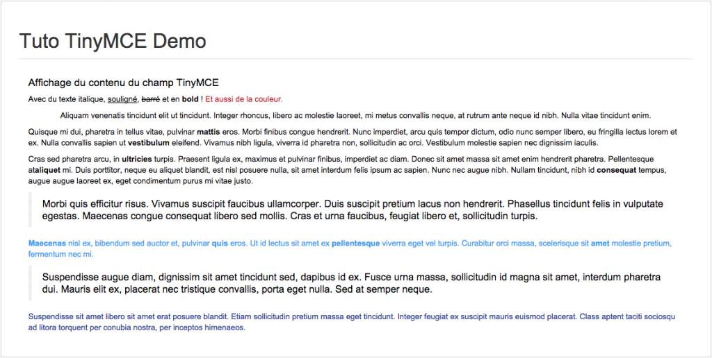 Demo Module Prestashop TinyMCE
